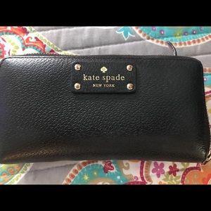 Kate Spade blanket zipper wallet
